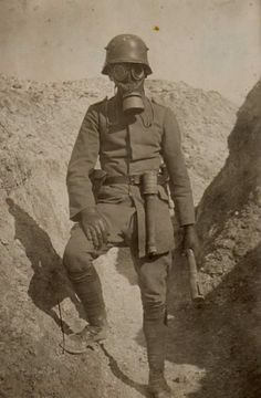 Imperial German soldier in the trenches during World War 1.