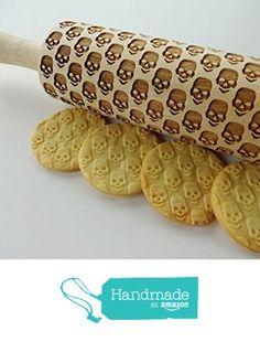 SKULLS Embossing Rolling pin pattern. from Sun Crafts https://www.amazon.com/dp/B01KS5J9FI/ref=hnd_sw_r_pi_awdo_Z90UxbQ3ZKQ64 #handmadeatamazon