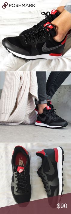 91cff4e0e12 Shop Women s Nike Black Red size 7 Sneakers at a discounted price at  Poshmark.
