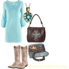 Turquoise Tunic, created by horsesandheels on Polyvore