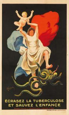 Ecrasez la Tuberculose. ca. 1922  LEONETTO CAPPIELLO (1875-1942)