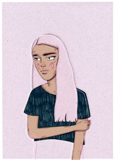 Lilac drawing, i love this :)