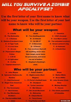 Will you survive a zombie apocalypse?