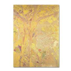 Odilon Redon 'Yellow Tree 1900' Canvas Art