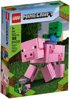 Shop LEGO Minecraft BigFig Pig and Baby Zombie 21157 at Best Buy. Find low everyday prices and buy online for delivery or in-store pick-up. Lego Minecraft, Minecraft Crafts, Minecraft Skins, Shop Lego, Buy Lego, Baby Zombie, Lego Boxes, Presents For Boys, Games
