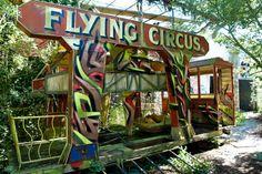Tour the graffiti-covered ruins of Belgium's dangerous amusement park