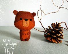 Little hamster ornaments felt decorations nursery by MyMagicFelt