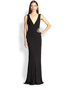f7493f213b1 ABS - Jersey Deep V-Neck Gown Plunging V Neck Dress