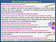 Direct and Indirect Questions 2