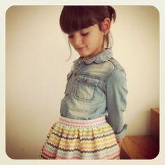 only to show Wiene denim shirts are girly... MOTORETA - Denim + Stripes #kids #fashion
