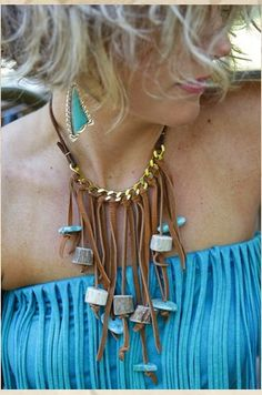 Rio Bravo leather fringe necklace from Junk Gypsies.