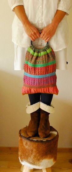 knitted handbag LITANG by hogenbirkknitwear on Etsy, $65.00