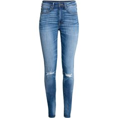Skinny High Waist Jeans SR 179 ($35) ❤ liked on Polyvore featuring jeans, pants, bottoms, calça, h&m skinny jeans, super high-waisted skinny jeans, zipper jeans, button-fly jeans and high-waisted jeans