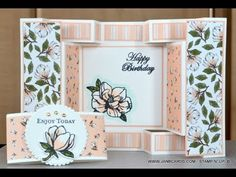 - Double Tri-Fold Card - JanB UK Stampin' Up! Z Cards, Paper Cards, Stampin Up Cards, Baby Cards, Greeting Cards, Tri Fold Cards, Fancy Fold Cards, Folded Cards, Card Making Tutorials