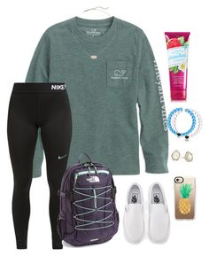 """What is your favorite month?"" by tessabear-prepster ❤ liked on Polyvore featuring NIKE, Vans, Kendra Scott, The North Face and Casetify"