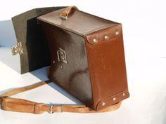 Brown messenger leather retro vintage bag  soviet by retromaniacs, €38.50