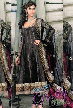 Black Designer Net Anarkali Salwar Suit