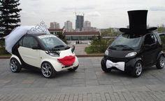 Wedding Transportation Ideas With Bridal Car Photography Inspiration. Smart Auto, Smart Car, Crazy Wedding, Wedding Pictures, Wedding Fun, Wedding Bride, Wedding Vintage, Luxury Wedding, Wedding Bells