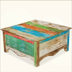 the new delhi primrose hand painted square coffee table is