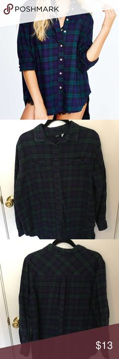 Urban Outfitters Oversized Flannel This is a fall staple! This awesome flannel is oversized and features a high-low design. It's a normal length in the front and is much lower in the back (see product photos). Great condition. By BDG at Urban Outfitters. Urban Outfitters Tops Button Down Shirts