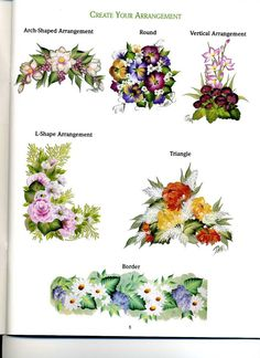 Flowers Of The Month One Stroke By Donna Dewberry Catalogues Will Be Sent Upon Request Art Supplies Instruction Books & Media