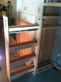 Airstream Renovation: Airstream slide out pantry complete!