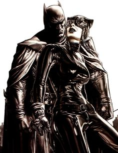 Catwoman and Batman by Lee Bermejo