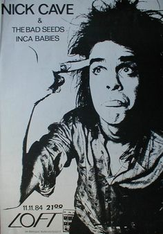 Vintage rock poster - Nick Cave And The Bad Seeds - Inca Babies ( concert  poster )