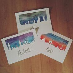 City watercolors #watercolor #city #art
