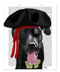Love this Black Labrador Pirate Dictionary Print on #zulily! #zulilyfinds