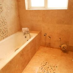 Travertine Filled & Honed & Tumbled Marble Mix Mosaic