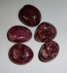 5pc #2 Lepidolite A-Grade Tumbled & Polished Healing Crystal Gemstones Stones