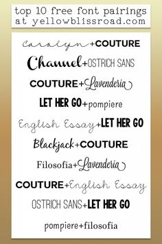 I use a lot of different fonts when creating graphic art. Some are bought but most are fabulously free fonts. There are so many to choose from, how do you decide? I get asked a lot what my favorite fonts are. Today I thought I'd share my top ten most used free fonts, which I …