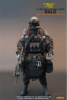 Hot Toys US Navy Seal Team 2 Halo Jumper Action Figure for sale online