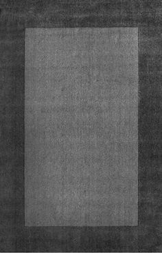 Tuscan Woven Solid Border Grey Rug Contemporary Rugs