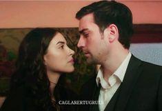 Deniz Baysal as Hazan and Caglar Ertugrul as Yagiz Egemen in the Turkish TV series FAZILET HANIM VE KIZLARI, 2017-2018.