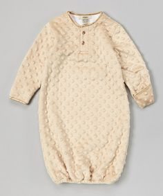 Look what I found on #zulily! Latte Velour Gown - Infant by My Blankee #zulilyfinds