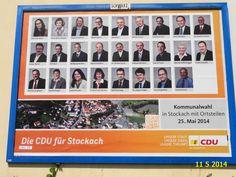 316. - Plakat in Stockach. / 11.05.2014./