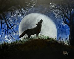 """SUN, 5/17/15 3-5pm FUNDRAISER to benefit BART Wolf Pack Relay for Life Team OPEN TO THE PUBLIC. Learn how to paint """"Howling Wolf"""" on a large 16x20 canvas for only $35. At The Eagles Hall, 515 Curran Hwy, North Adams, MA. All painting materials and instruction included for this 2 hour painting. Reserve your seats at www.berkshirepaintandsip.com"""