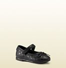 toddler guccissima leather ballet flat