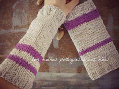 Punhos de lã Zagal. *a Marta com malhas portuguesas nas mãos* #zagal
