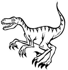 Raptor Dinosaur Coloring Pages