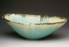 Aqua Oval Bowl - 7 x 13 inches
