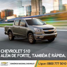 Agilidade e força juntos em um só carro: Chevrolet #S10. Tenha a sua: www.consorciodeauto.com.br