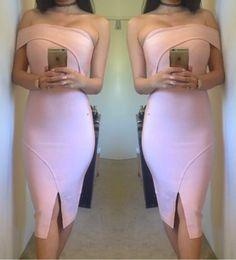 Ladies Sheike Valentine Style Off Shoulder Wiggle Bandage Dress Size 6 8 10 12