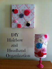 DIY headband and bow holder (using formula can instead)