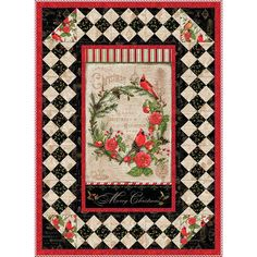 Wilmington Prints Christmas in the Wildwood - Wall Quilt Kit Quilting Projects, Quilting Designs, Quilting Ideas, Sewing Projects, Fun Projects, Quilt Kits, Quilt Blocks, Fabric Panel Quilts, Bed Quilts