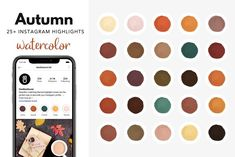 Social Media Template, Social Media Design, Image Ready, Story Highlights, Instagram Accounts, Autumn, Watercolor, Cover, Pen And Wash