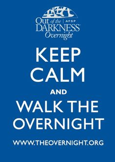 On June 1, some of our staff will be walking #theovernight to raise awareness about #suicide and #depression. Together we can make a difference!