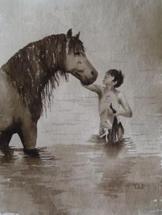 Watercolour Horse Painting